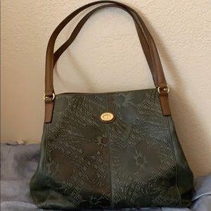 Tignanello leather embossed print bag